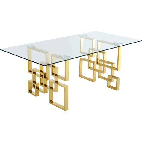 "Meridian Furniture 714 T Pierre 78"" Gold Geometric"