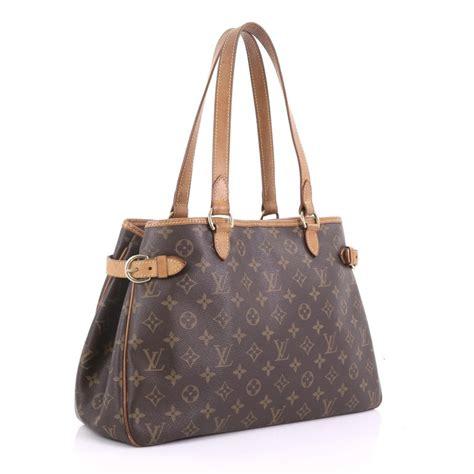 louis vuitton batignolles handbag monogram canvas horizontal  stdibs