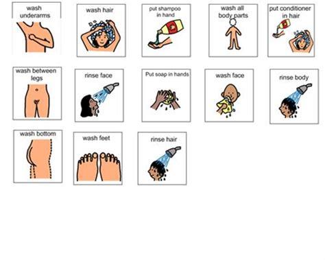 visual schedule for showering risultati immagini per visual schedule for showering