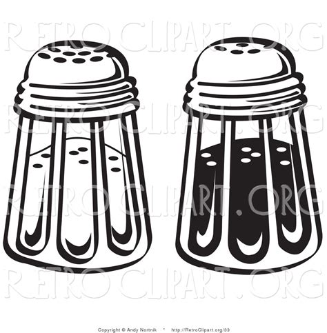salt and pepper clipart black and white salt shakers clip 68