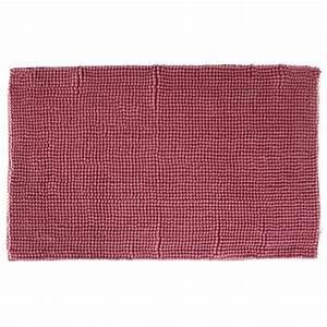 tapis de salle de bain quotchenillequot 80x50cm rose With tapis salle de bain rose
