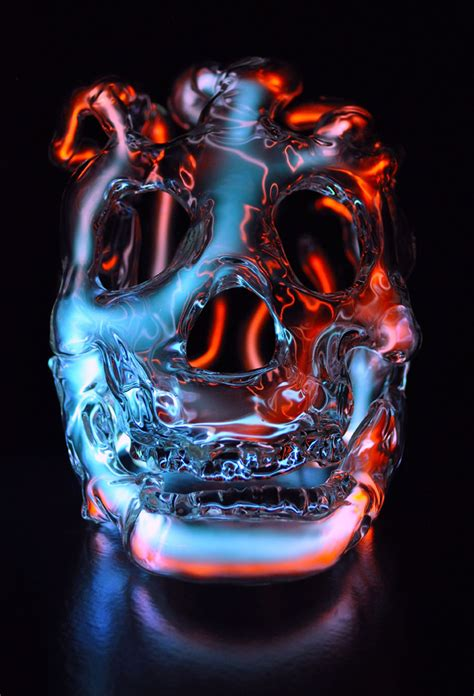 neon skull sculptures  eric franklin colossal
