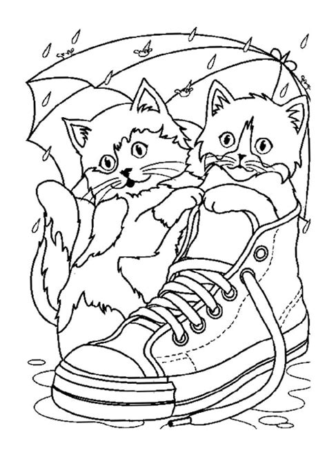 Kleurplaat Poesje Mandela by Two Cats In A Shoe Animals Coloring Pages