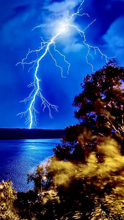 Lightning Iphone Forest 1080p Nature Backgrounds Wallpapers