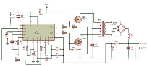 using the sg3525 pwm controller explanation and exle circuit diagram schematic of push