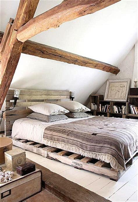 chambre pour 1 personne dans lit en palette 50 idées pour fabriquer un lit en palette