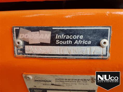 doosan lc  solar excavator nuco auctioneers