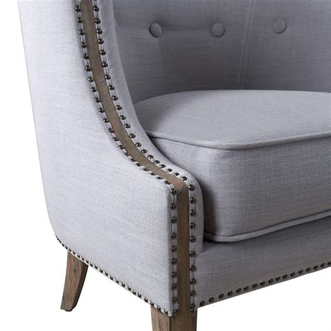 gamila light gray accent chair 23220 uttermost