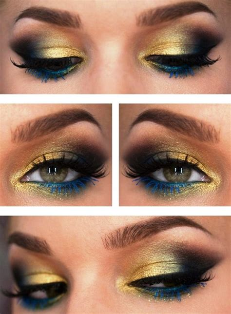 dramatic peacock inspired eye makeup ideas