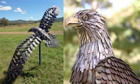 scrap metal animal sculptures   blow  mind