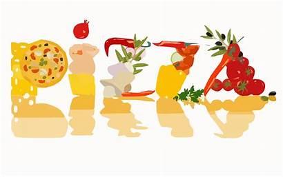 Pizza Pizzeria Ingredients Transparent Cooking Vector Franco
