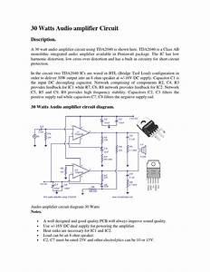 30 Watts Audio Amplifier Circuit