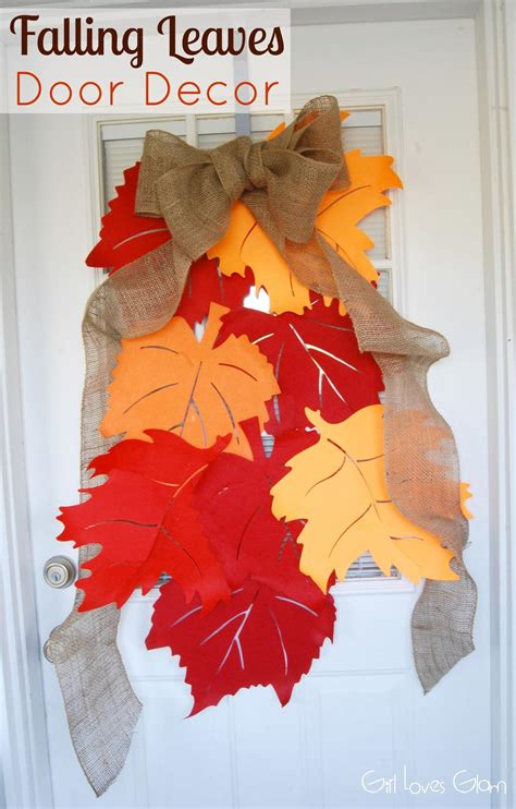 fall leaves decor  idea room
