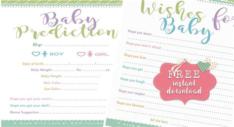 adorable baby shower advice cards tulamama