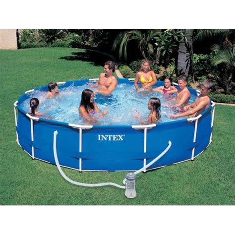 piscine intex tubulaire 3 66 intex piscine tubulaire metal frame ronde 3 66 x 0 76 m