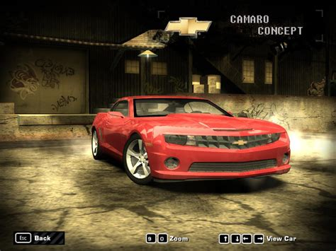 speed  wanted chevrolet camaro concept nfs