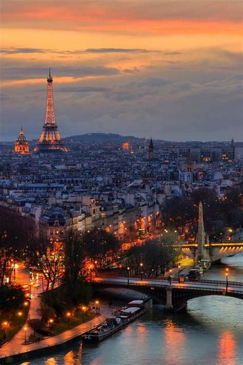 paris lights awesome view paris france beautiful