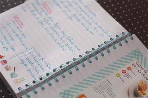 my recipe book mon carnet de recettes kawai merci pour