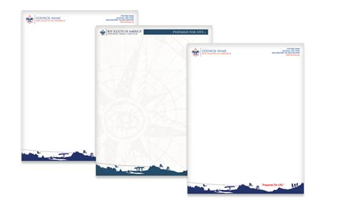 Troop 908 Boy Scout Letterhead Templates by Stationery Spectrum Boy Scout Marketing Solutions