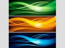 Abstract Wavy Lines Banner Header Vector Template Design
