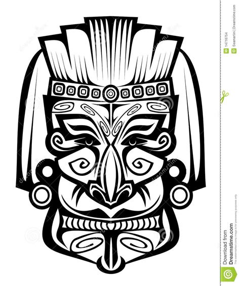 Ancient Mask Template by Ancient Mask Stock Vector Illustration Of Black Brown