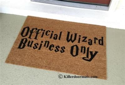 Personalized Doormat Company by Official Wizard Business Only Custom Doormat By
