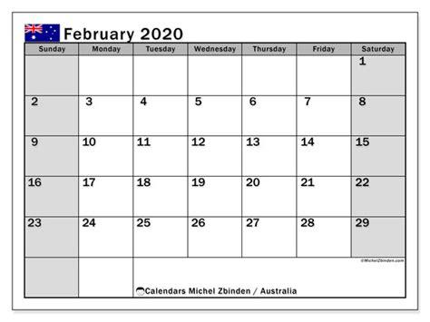 february  calendar australia michel zbinden en