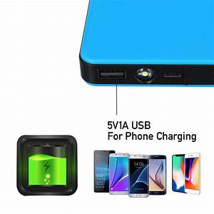 20000mah 12v 2a Auto Jump Starter Booster Charger Battery