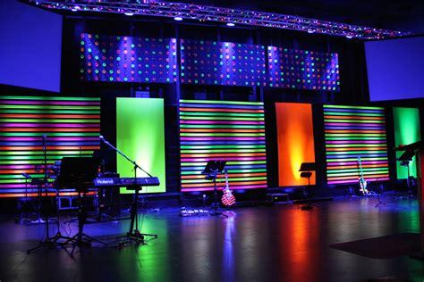 disco tech church stage design ideas