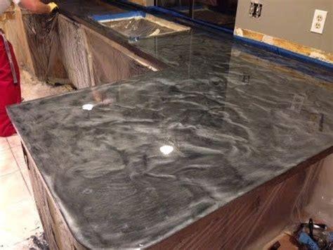 countertop resurfacing  metallic epoxy silver