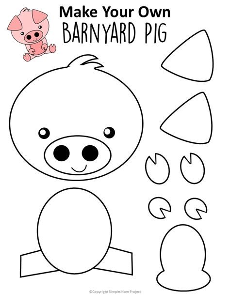 easy diy pig craft activity  preschool kids simple