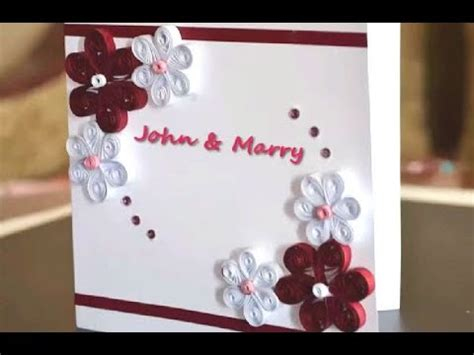 greeting quilling card diy paper crafts