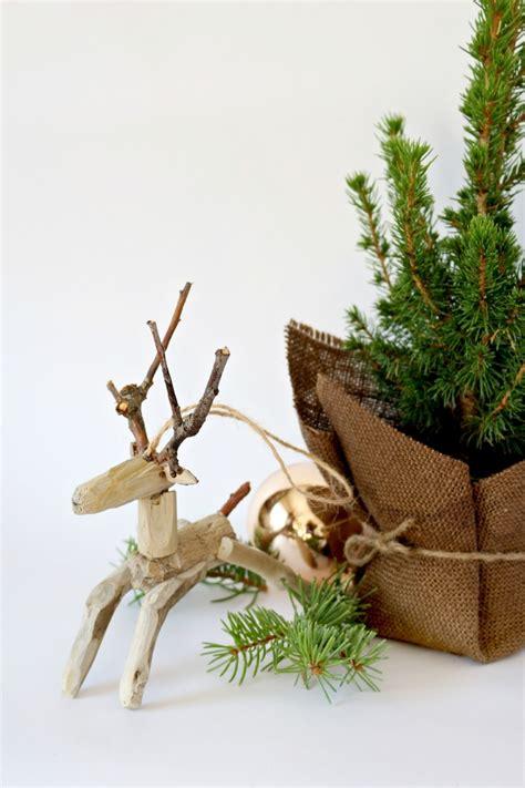 ideen fuer weihnachtsdeko aus holz und basteltipps