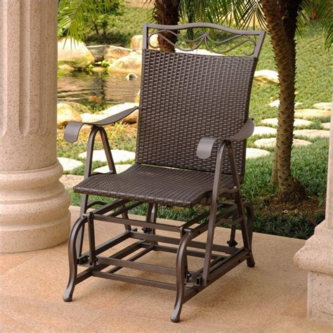 single patio glider chair in chocolate 4103 sgl ch