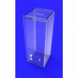 clear acrylic donation box poll collection box ballot box With floor standing charity collection boxes