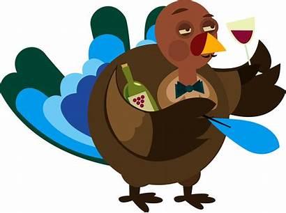 Turkey Thanksgiving Wine Eve Drunk Drinking Party