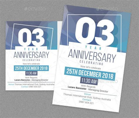 anniversary cards list design trends premium psd