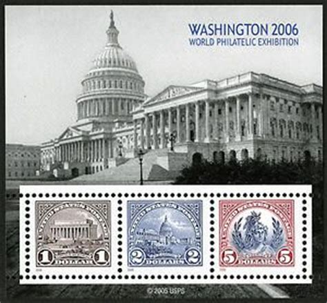 washington 2006 world philatelic exhibition souvenir sheet