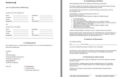 Kaufvertrag Ohne Unterschrift by Kfz Kaufvertrag 252 Berpr 252 Fen Alles So In Ordnung Auto