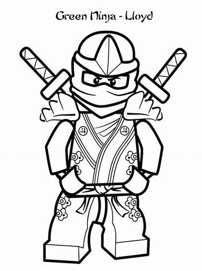 Coloring Ninjago Lego Pages Characters Cartoon