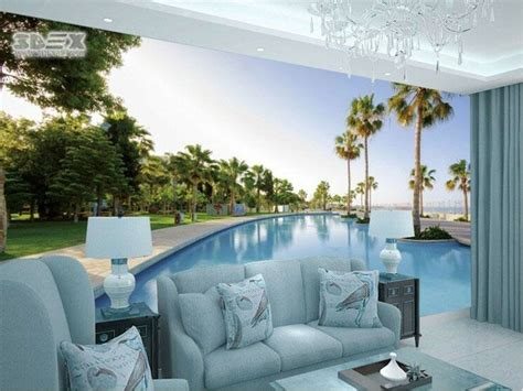 Living Room Wallpaper City by Panoramic 3d Wallpapers For Living Room Wall Move Into The