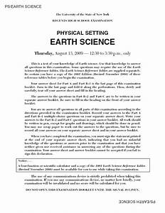 Regents High School Examination  Physical Setting Earth