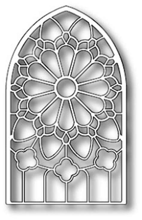 grand gothic stained glass window poppy stamps die