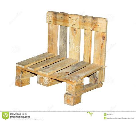 chaise palette chaise construite d 39 une palette photo stock image du