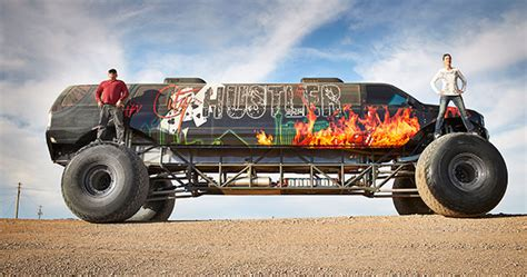 how long is the monster truck show video take a ride in the world s longest monster truck