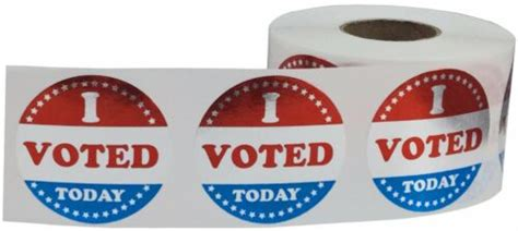 shiny  voted today circle stickers inches  pack office business industrial