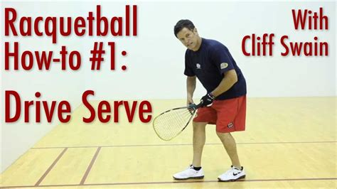 How To 'drive Serve' From Professional Racquetball Player