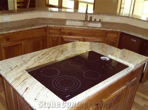 River Gold Granite Kitchen Top, Yellow Granite Kitchen