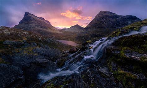 romsdalen valley  norway sunrise morning light desktop