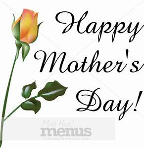 Happy Mother's Day with Orange Rose | Holiday Clipart Archive